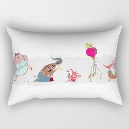 Character roundup walk cycle key pose Rectangular Pillow