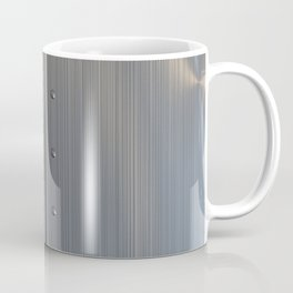 Brushed metal plate with rivets and circular grille Coffee Mug