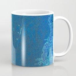 Miami Florida vintage map year 1950, blue usa maps Coffee Mug