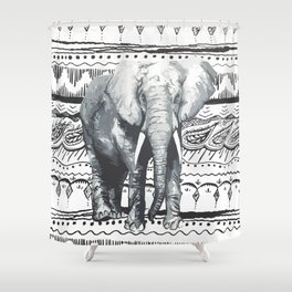 Mr Elephant. Shower Curtain
