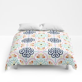 Pastel Moroccan Pattern Comforters