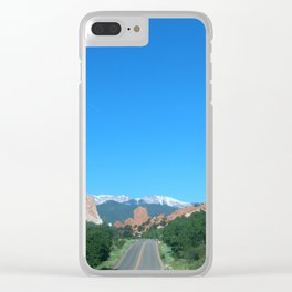 Road Through Garden of the Gods Clear iPhone Case