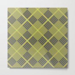 Fammable Pattern Metal Print