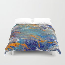 Fire and Ice 2 - Flow Acrylic Abstract Duvet Cover