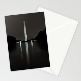 Washington Monument at Night Stationery Cards