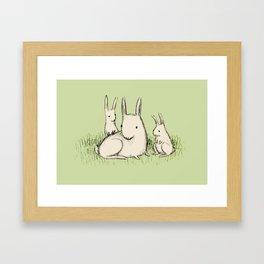 Bunny Family Framed Art Print