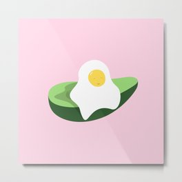 Happy Egg Metal Print