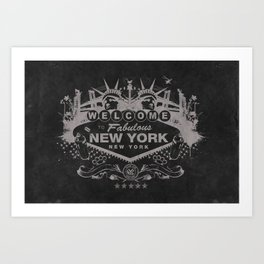 Sin City (Black) Art Print
