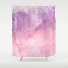 Pink & Puprple Watercolor Shower Curtain