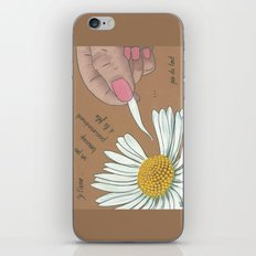Je t'aime...un peu...beaucoup iPhone & iPod Skin