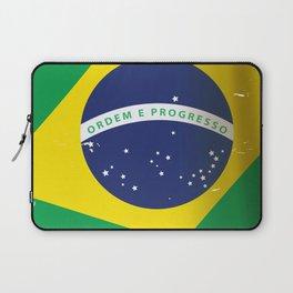 Brasil Nation flag travel poster Laptop Sleeve