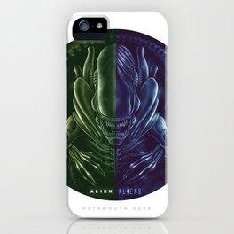 Alien + Aliens iPhone Case