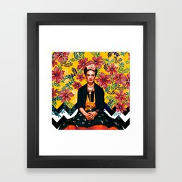 Frida Tropical Framed Art Print