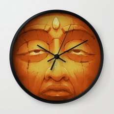 Buddha II Gold Wall Clock