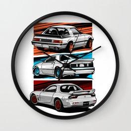 RX-7 Generations Wall Clock