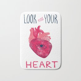 Look with your heart Bath Mat