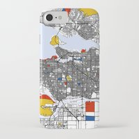 vancouver iPhone & iPod Cases featuring Vancouver by Mondrian Maps