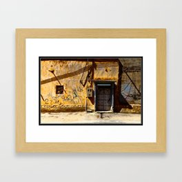 Door V Framed Art Print