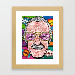 Stan Lee Comic Framed Art Print