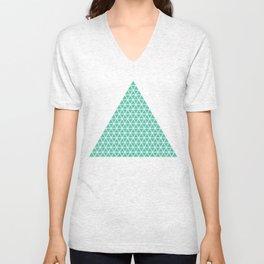 Geometric shape t-shirts & prints: Triangle (Tri x Tri) Multiple colours available... Unisex V-Neck