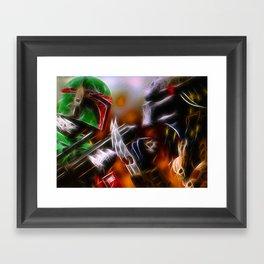 Boba Fett Vs Predator - Doc Braham - All Rights Reserved Framed Art Print