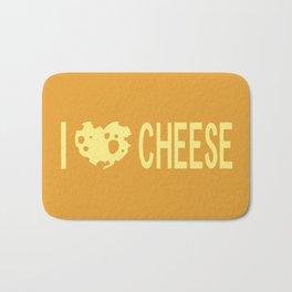 I Love Cheese Bath Mat
