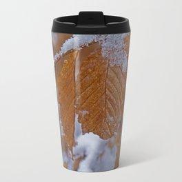 snow and leaves Travel Mug