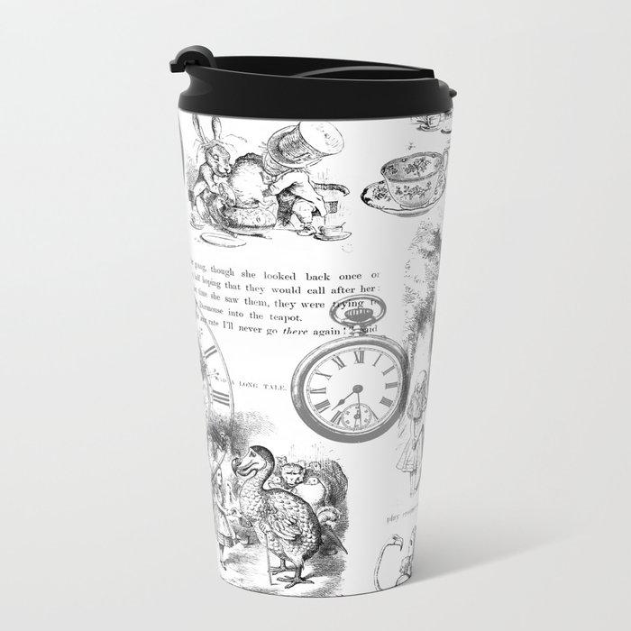 Alice in Wonderland - Pages Metal Travel Mug