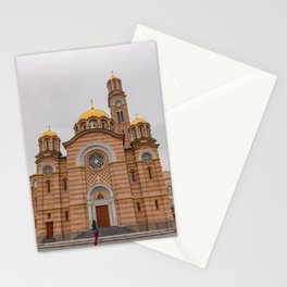 Banja Luka Cathedral in Bosnia and Herzegovina Stationery Cards