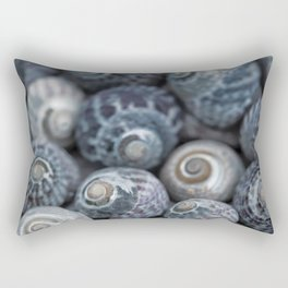 Beach Treasures Snail Shell Collection Rectangular Pillow