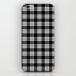MacFarlane Black + White Tartan Modern iPhone Skin