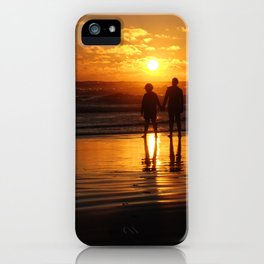 Watching The Burning Waves iPhone Case