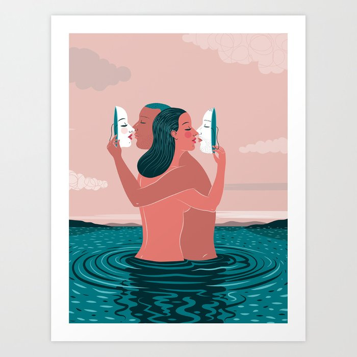 """""""Casual Sex May Be Improving America's Marriages"""" by Federica Bordoni for Nautilus Art Print"""