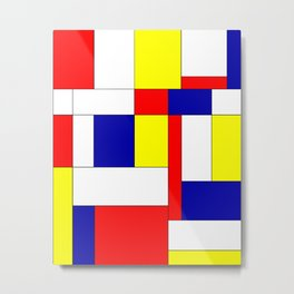Mondrian #34 Metal Print