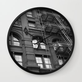 Windows and Stairs Wall Clock