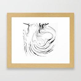 Oil Maze Framed Art Print