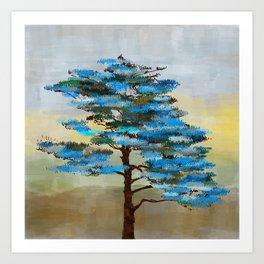 Pine Tree Digital art  composition Art Print
