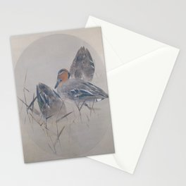 Seitei - Album of Flowers and Birds (1906): Teals with Reeds Stationery Cards