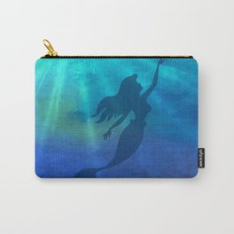 Magical Jeweltone Mermaid Silhouette Illustration Carry-All Pouch