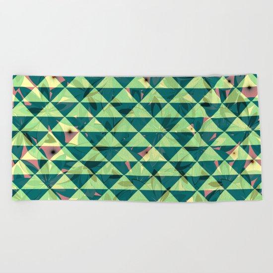 Vegetation-triangles Beach Towel