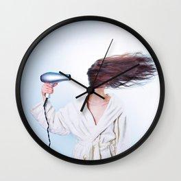 hair comic wind 4 Wall Clock