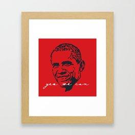 Yes We Can II Framed Art Print