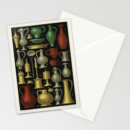 Miscellaneous Furniture and Objects (1858) by Ferdinand Sere, a collection of simple utensils and ob Stationery Cards