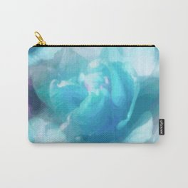 Turquoise abstracted tulips Carry-All Pouch