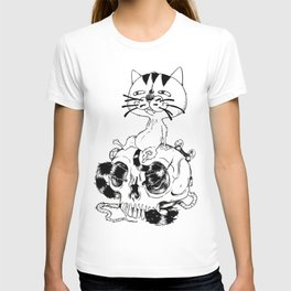 Long Tailed Creepy Cat and Sneaky Rat T-shirt