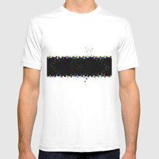 T shirt White Mens Fitted Tee MEDIUM
