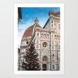 christmas in florence Art Print