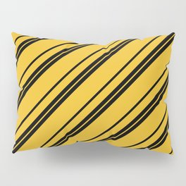 Potterverse Stripes - Hufflepuff Yellow Pillow Sham