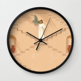 Under the Palms Wall Clock