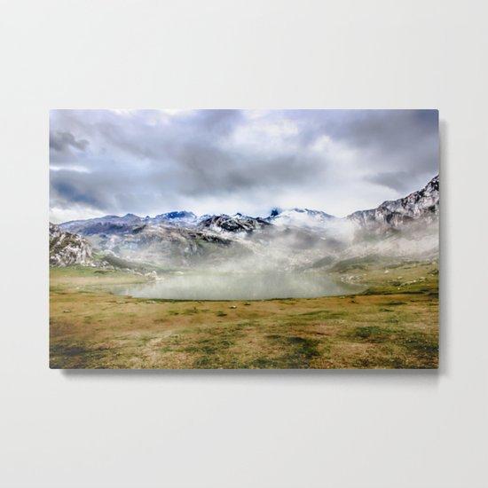 Lago Ercina in National park Picos de Europa Metal Print
